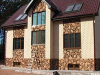 Фасад из декоративного кирпича Волгоград