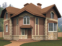 Фасад из гиперпрессованного кирпича цена